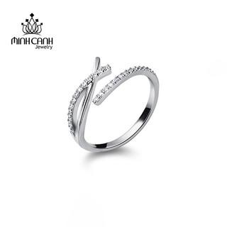 [Mã MCJ20 giảm 20K đơn từ 199K] Nhẫn Bạc Nữ Chữ X Đính Đá Freesize - Minh Canh Jewelry thumbnail