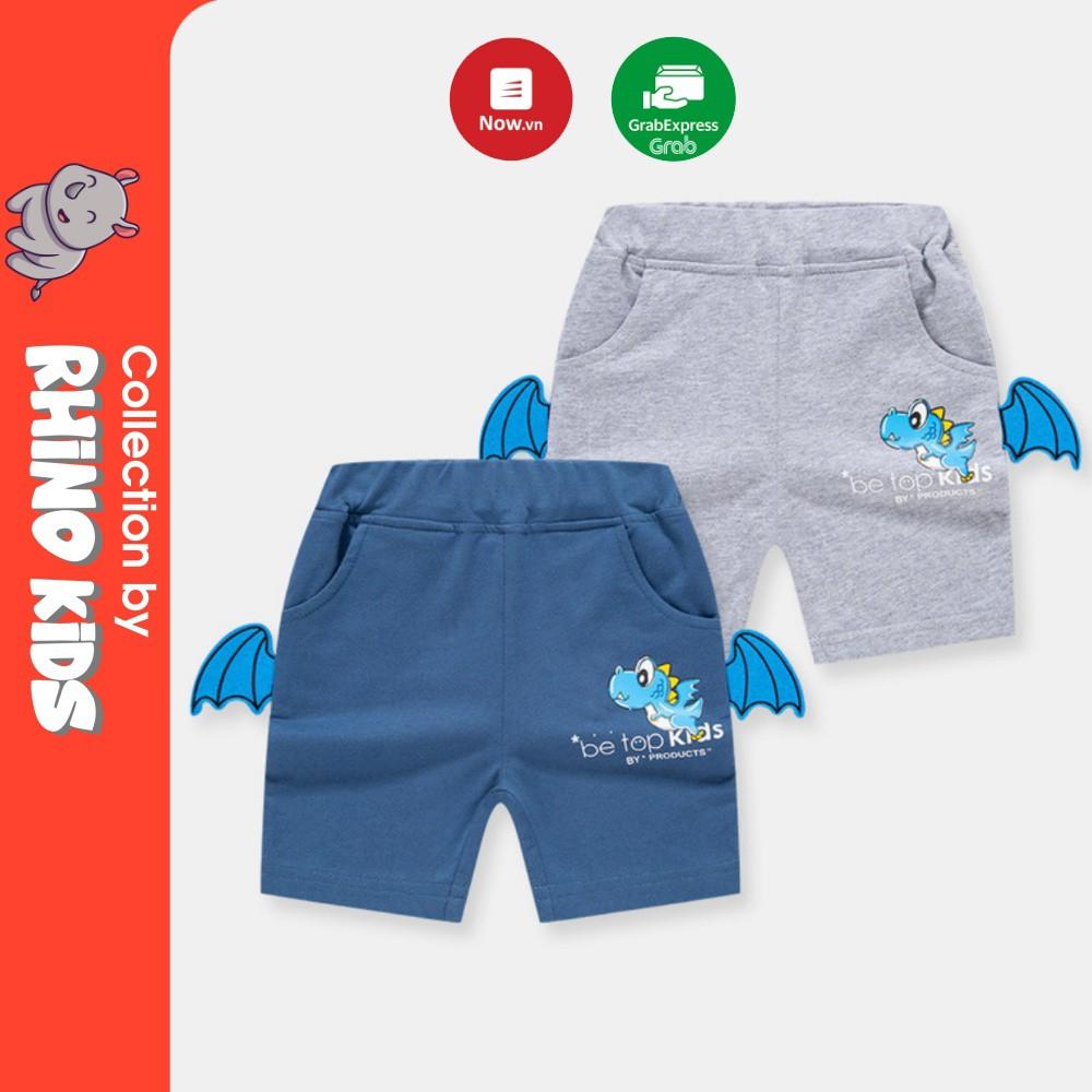 Quần thun cho bé trai 3D in hình khủng long có đôi  , quần short bé trai họa tiết khủng long chất cotton hàng xuất Âu Mỹ
