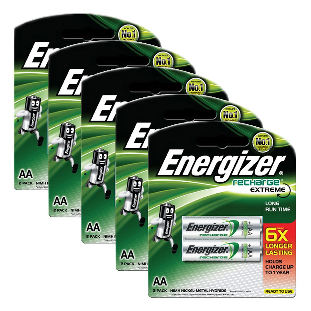 Bộ 10 pin sạc AA Energizer Recharge Extreme 2300mAh