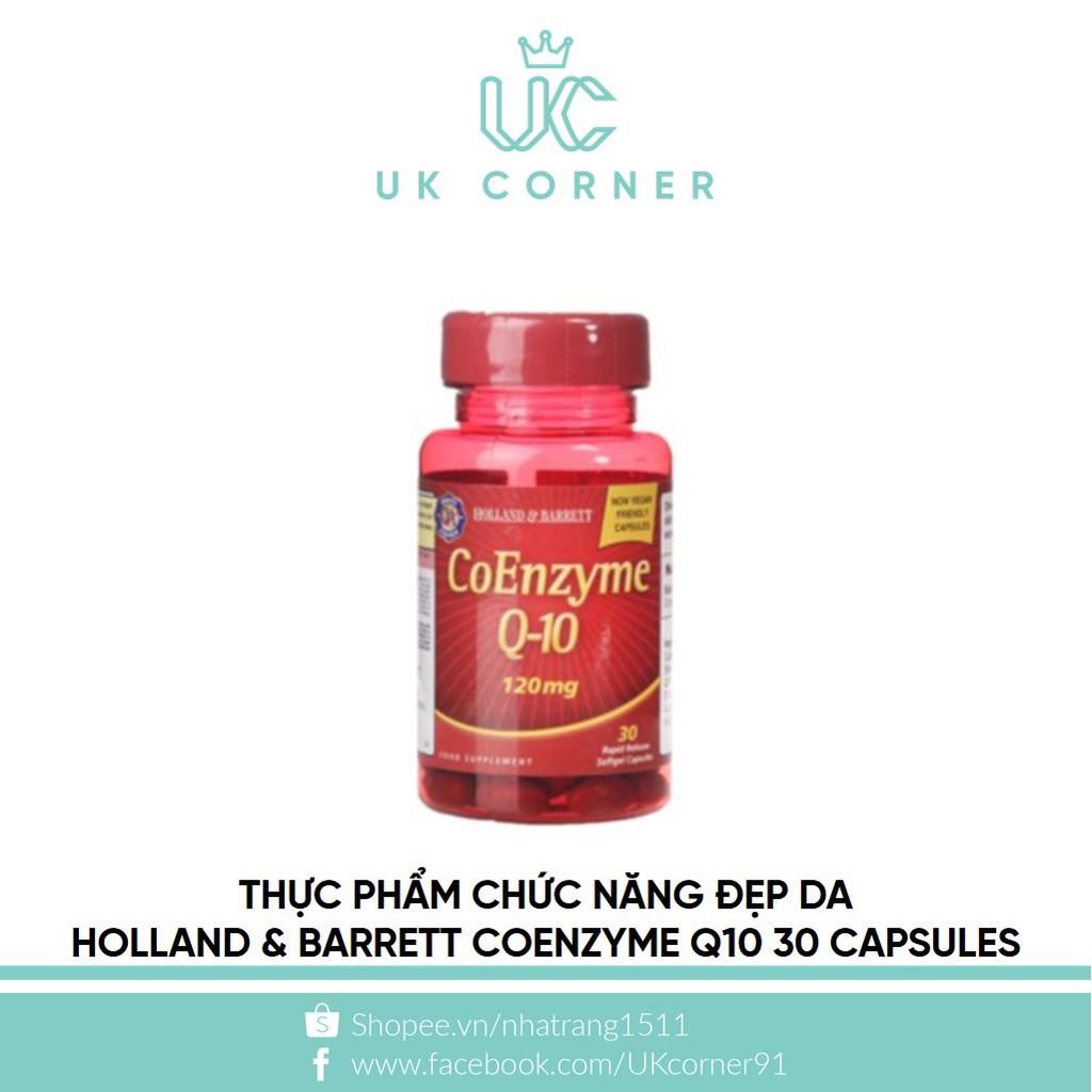 Thực phẩm chức năng làm đẹp da Holland & Barrett CoEnzyme Q-10 30 Capsules 120mg
