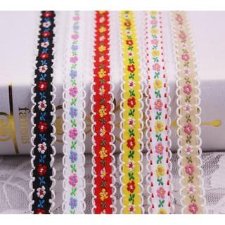 Dải dây ren hoa nhiều màu sắc thumbnail