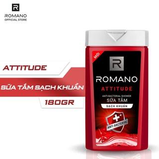 Sữa tắm sạch khuẩn Romano 180g Attitude/Classic (giao mùi ngẫu nhiên)