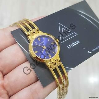 Đồng hồ nữ Halei máy Nhật mạ vàng dây kim loại -Gozid.watches