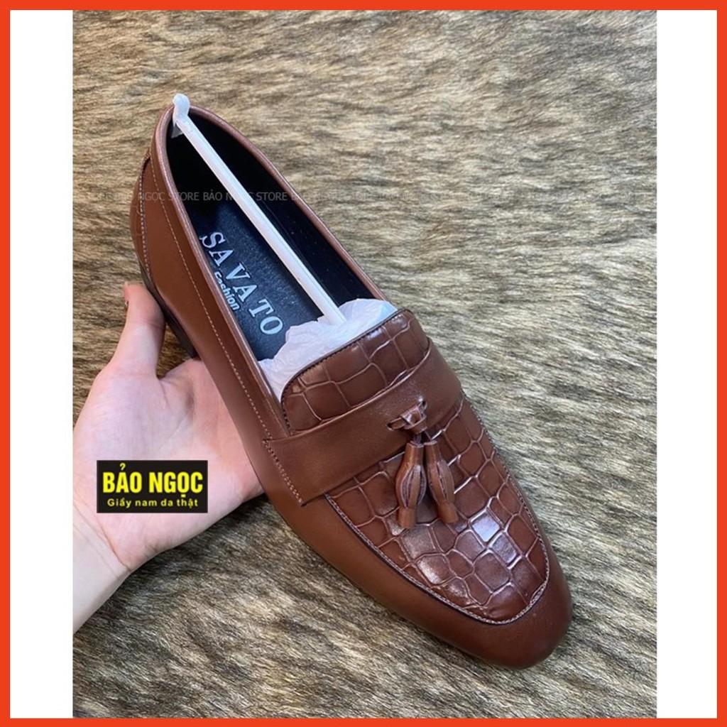 Giày tây nam da bò cao cấp ✅ Giày lười nam công sở thời trang 🎁 Da bò tấm loại 1 🎁 Bảo hành nổ da 24 tháng ✅ Mã L6989 ♥️