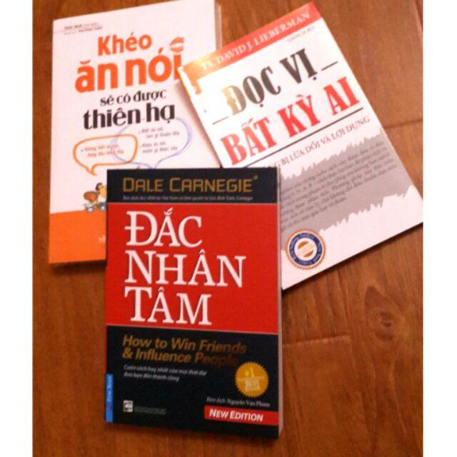 Sách Combo Đắc nhân tâm Khéo ăn khéo nói Đọc vị bất kì ai