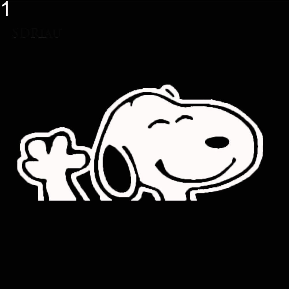 Miếng Dán Trang Trí Nắp Bình Xăng Xe Hơi Hình Chó Snoopy Dễ Thương