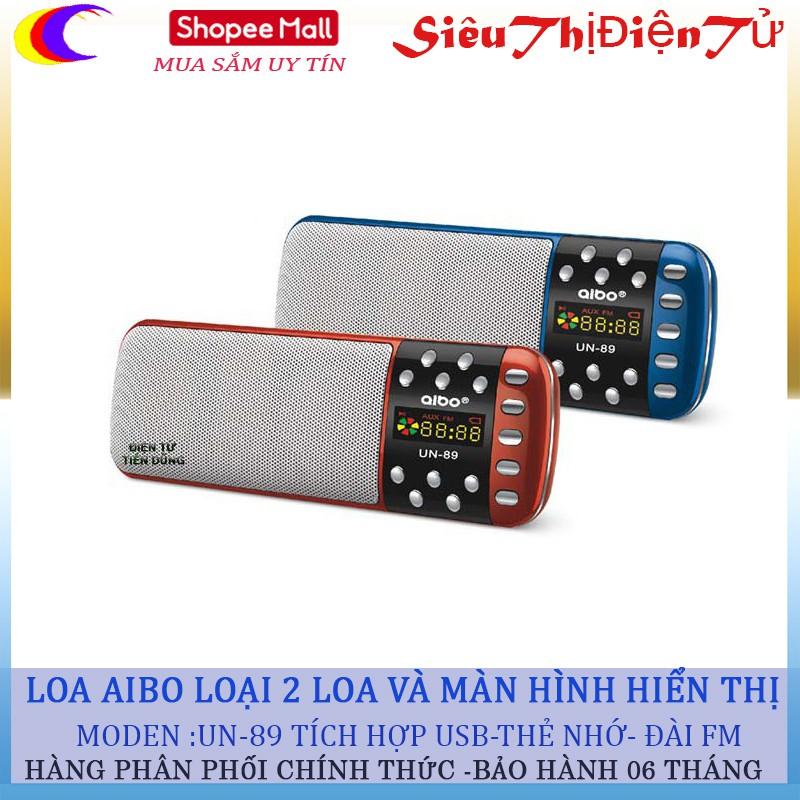 Loa nghe nhạc thẻ nhớ usb Aibo UN-89 chế độ đài siêu mạng - 2887191 , 1071118527 , 322_1071118527 , 290000 , Loa-nghe-nhac-the-nho-usb-Aibo-UN-89-che-do-dai-sieu-mang-322_1071118527 , shopee.vn , Loa nghe nhạc thẻ nhớ usb Aibo UN-89 chế độ đài siêu mạng