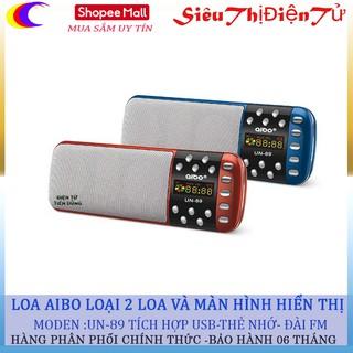 [Mã ELMAR10K giảm 10K đơn 20K] LOA NGHE NHẠC AIBO UN89 HỖ TRỢ USB PIN KHẺO thumbnail