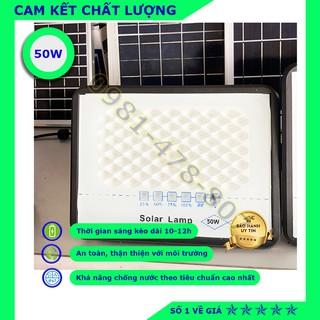 Đèn năng lượng mặt trời, đèn chống lóa Solar Lamp, khung nhôm chống nước, chống bụi 50W- Chính hãng, bảo hành 2 năm.