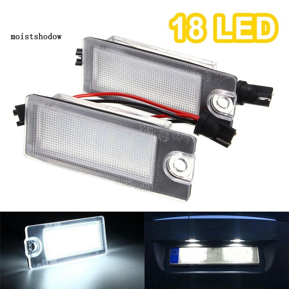 MISD 2Pcs Number License Plate 18LED Light for Volvo S80 99-06 V70 XC70 S60 XC90