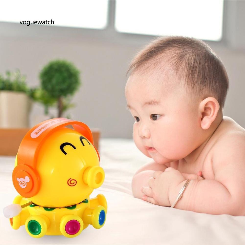 VGWT_Kid Child Cute Cartoon Octopus Wind Up Clockwork Classic Spring Educational Toy