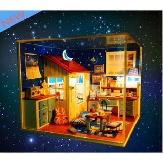 Mô hình nhà gỗ DIY Căn phòng ngôi sao