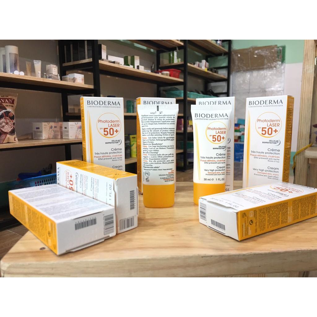 (Chính hãng) -Kem chống nắng Bioderma Photoderm Laser SPF 50+ (30ml), chuyên dùng cho da nhạy cảm
