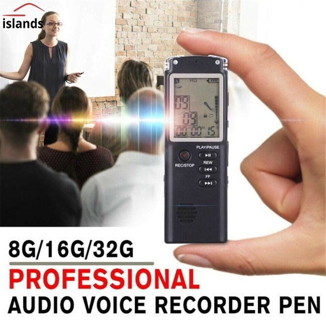 8/16/32 G Voice Activated Mini Digital Sound Audio Recorder Dictaphone MP3 Player Giá chỉ 462.000₫