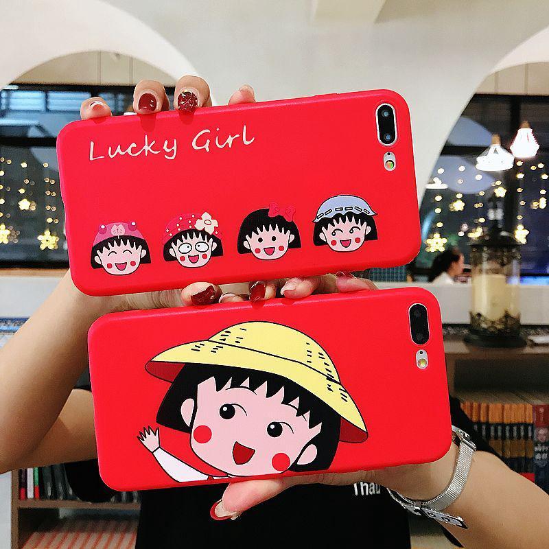 Ốp lưng nhựa mềm hình Sakura momoko Đáy đỏ cho VIVO Y97 95 93 83 55 V7 V9 V5P INS dễ thương