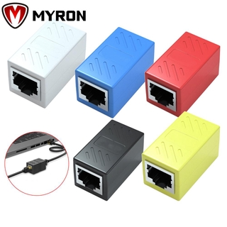 MYRON High Quality Ethernet Cable Extender Professional 8P8C LAN Connector RJ45 Coupler Plug And Play Laptop PC Female to Female Adapter Inline Cat7/Cat6/Cat5e White/Blue/Black 5 Pack