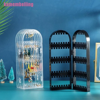 【mem】2/4/6Doors Plastic Foldable Necklace Jewelry Organizer Double Side Display Stand