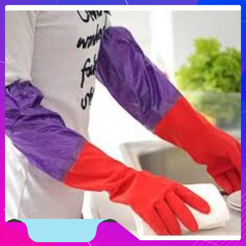 Găng tay cao su lót nỉ rửa bát - THANH XUÂN