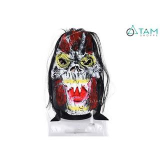Mặt nạ Halloween cao su Ma cây há miệng có tóc HLW-MN-15 tan mã BVY78 mã NTP55