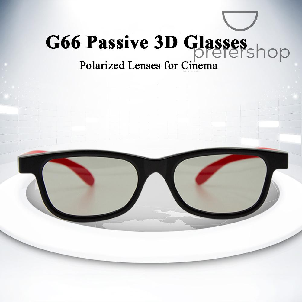 G66 Passive 3D Glasses Polarized Lenses for Cinema Lightweight Portable for watching Movies