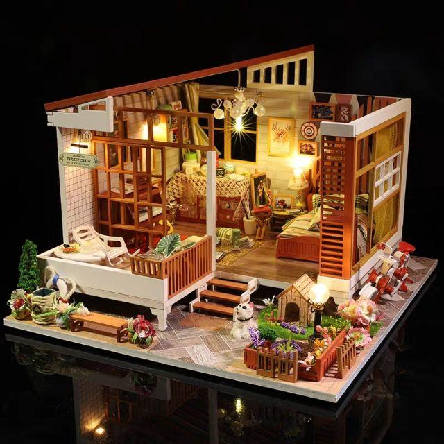 Mô hình nhà gỗ búp bê Dollhouse DIY - Kèm mica - A004 Like A Dream