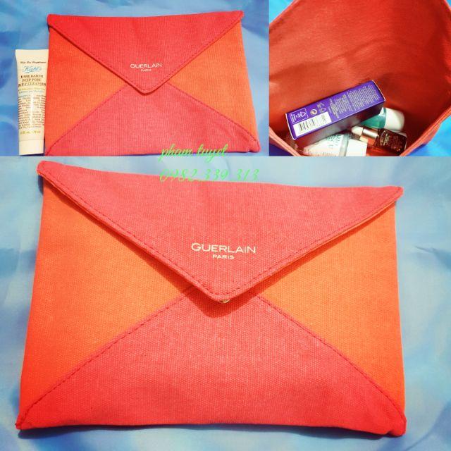 Túi mỹ phẩm thiết kế kiểu bì thư GUERLAIN