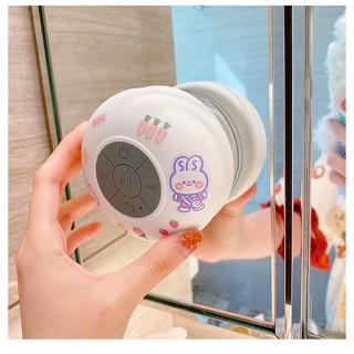 [RẺ VÔ ĐỊCH] Loa Nghe Nhạc Bluetooth Không Dây Cực Êm Gắn Tường Bếp Chống Nước Tặng Kèm Sticker Dễ Thương