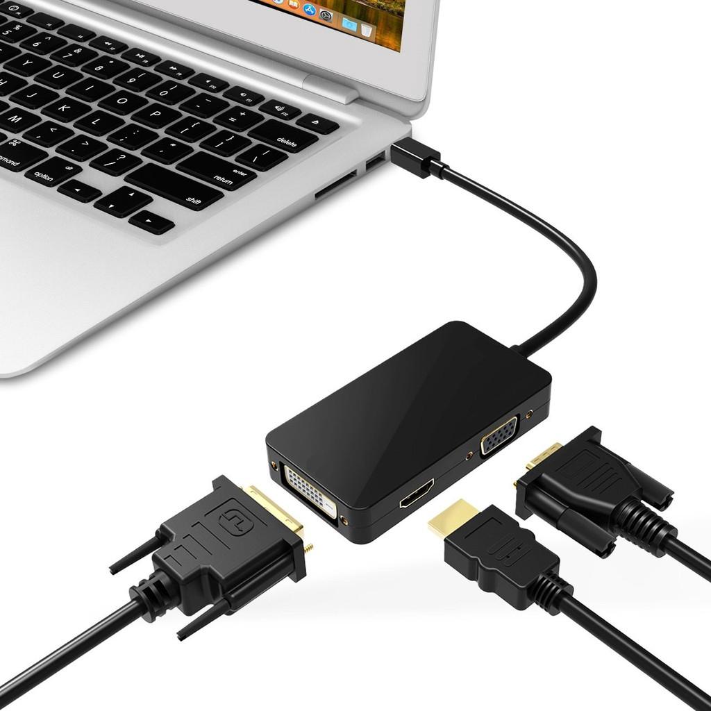 3 in 1 Mini DP Displayport Thunderbolt to HDMI DVI VGA Adapter Mini Display Port for MacBook