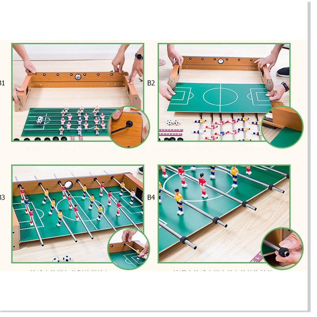 Bàn Bi lắc SALE ️ Bộ đồ chơi bàn bi lắc đá bóng bằng gỗ cho bé  34,5*21,5*8cm 4035