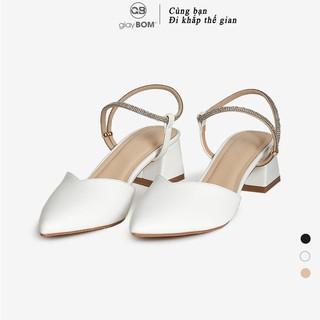 Giày cao gót giayBOM mũi nhọn đế cao 4 cm GB00126 thumbnail