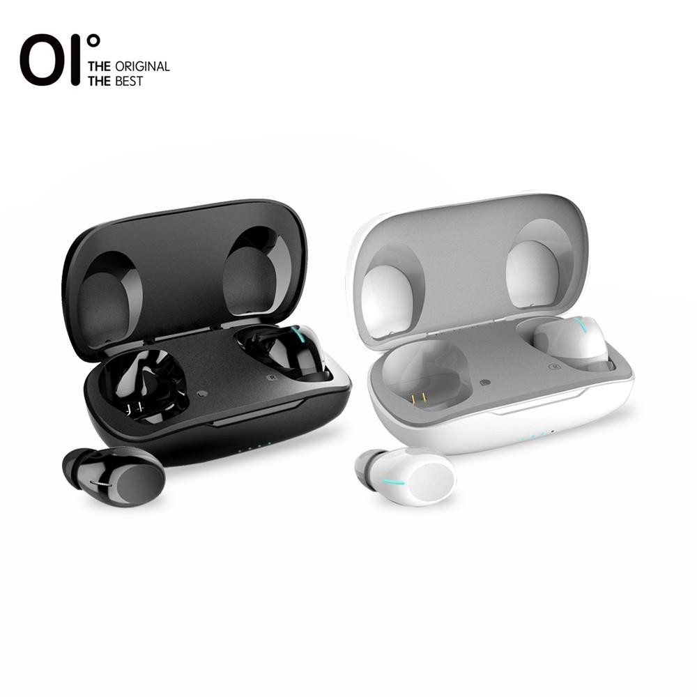 Tai nghe Bluetooth không dây Oi Teno-six chỉnh âm lượng sạc nhanh phát lại 8 tiếng IPX7 chống nước đen trắng tùy chọn