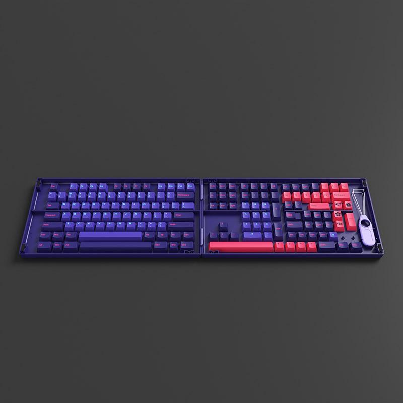 Set keycap AKKO NEON (PBT Double-Shot/Cherry profile/157 nút)