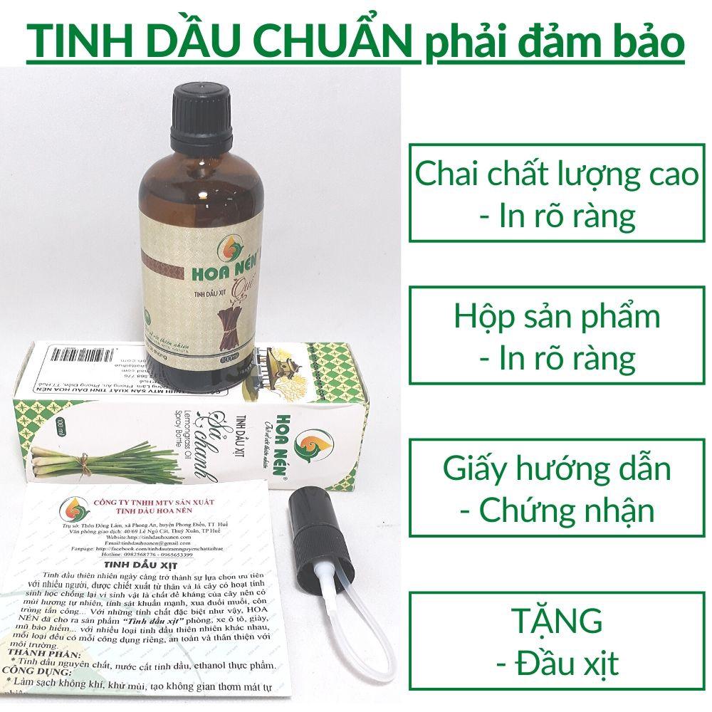 Tinh dầu Sả Java chanh Chai xịt Lớn 100ml đuổi muỗi khử mùi thơm phòng Việt Nam chưng cất thiên nhiên