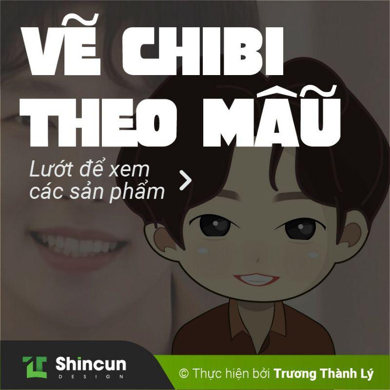 Vẽ Chibi theo mẫu / Liên hệ để trao đổi