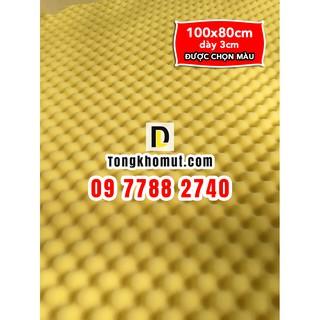 [VC thấp] - Mút trứng 100x80cm dày 3cm - LOẠI 1- mút mịn, cứng, bền, tỉ trọng cao - dùng để tiêu âm, cách âm
