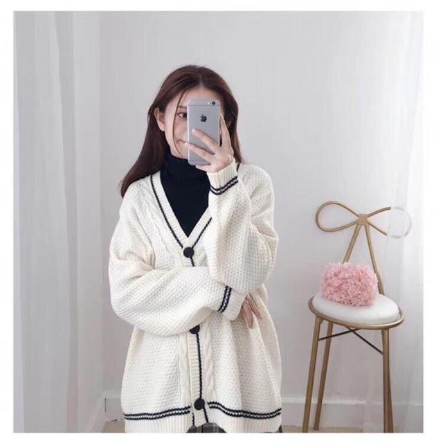 Áo Cardigan len khuy gỗ Hàn Quốc loại 1 😍