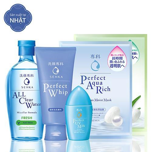 [HCM] Bộ sản phẩm chăm sóc da toàn diện (A.L.L Clear Water Fresh 230ml + PW 120g + UV Milk 40ml + Mask 25ml x 2)_95588E
