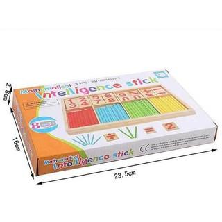 [ẢNH THẬT, HÀNG THẬT] dụng cụ học tập cho bé -Bảng gỗ que tính và chữ số cho bé | TẠI HÀ NỘI