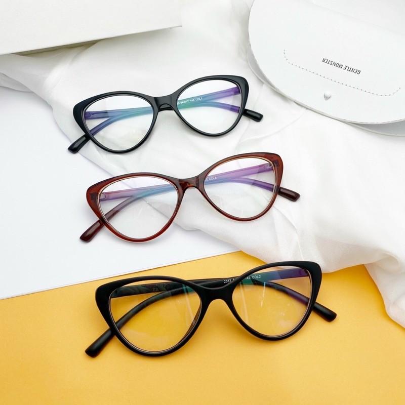 [Ảnh thật]Gọng cận mắt mèo thời trang Hàn quốc-Bisou.accessories