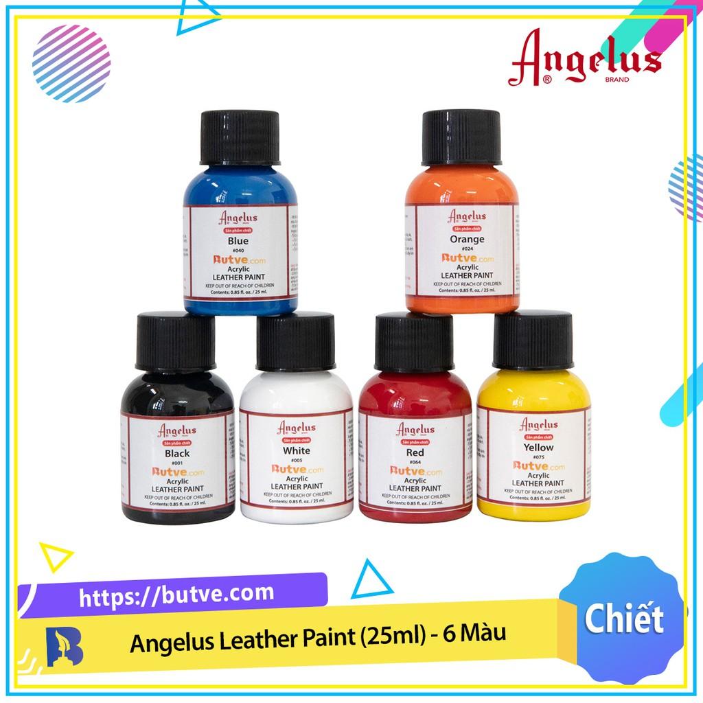 Màu acrylic vẽ da chuyên dụng Angelus Leather Paint - Combo 6 Màu (25ml)