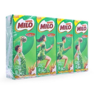LỐC 4 hộp sữa nước NESTLE MILO 180ml/hộp