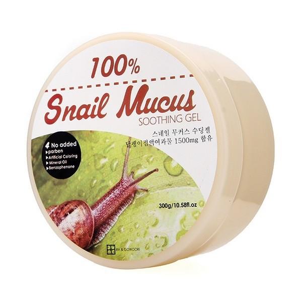 Gel Dưỡng, Tái Tạo Da Ốc Sên Ra&Gowoori 100% Snail Mucus Soothing Gel 300g