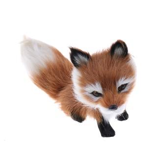 $VN Cute Simulation Fox Plush Toy Imitation Furs Yellow Fox Doll Gift home Decor