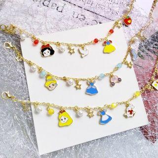 Lắc tay cho bé gái phong cách Hàn Quốc họa tiết công chúa xinh xắn bằng hợp kim cao cấp BBShine J048 thumbnail