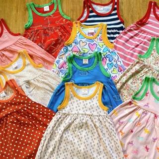 Váy sát nách bé gái vải xuất dư 10-18kg⚡️Váy cotton bé gái
