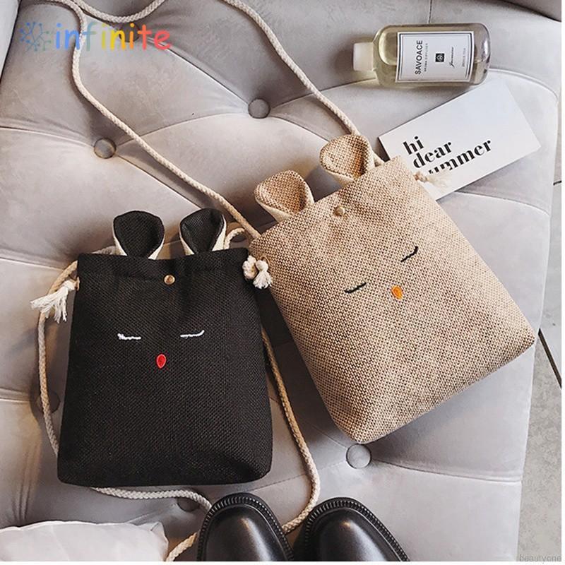 Túi vải bố hình thỏ dễ thương