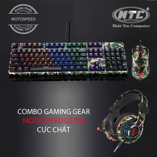 Bộ combo phím chuột tai nghe chơi game Motospeed GS700 cực chất (màu lính xanh) thumbnail