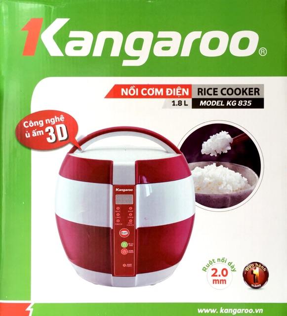 Nồi cơm điện Kangaroo 1,8L KG835 công nghệ ủ ấm 3D tiết kiệm điện năng