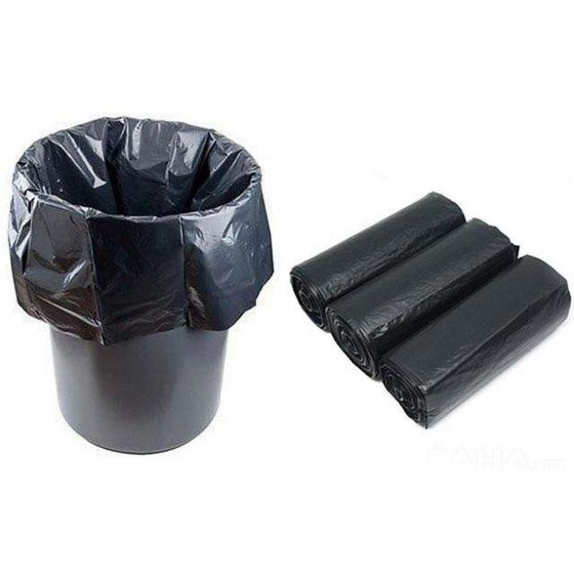 Bộ 3 cuộn đựng rác tự phân hủy đen ( loại trung và tiểu )