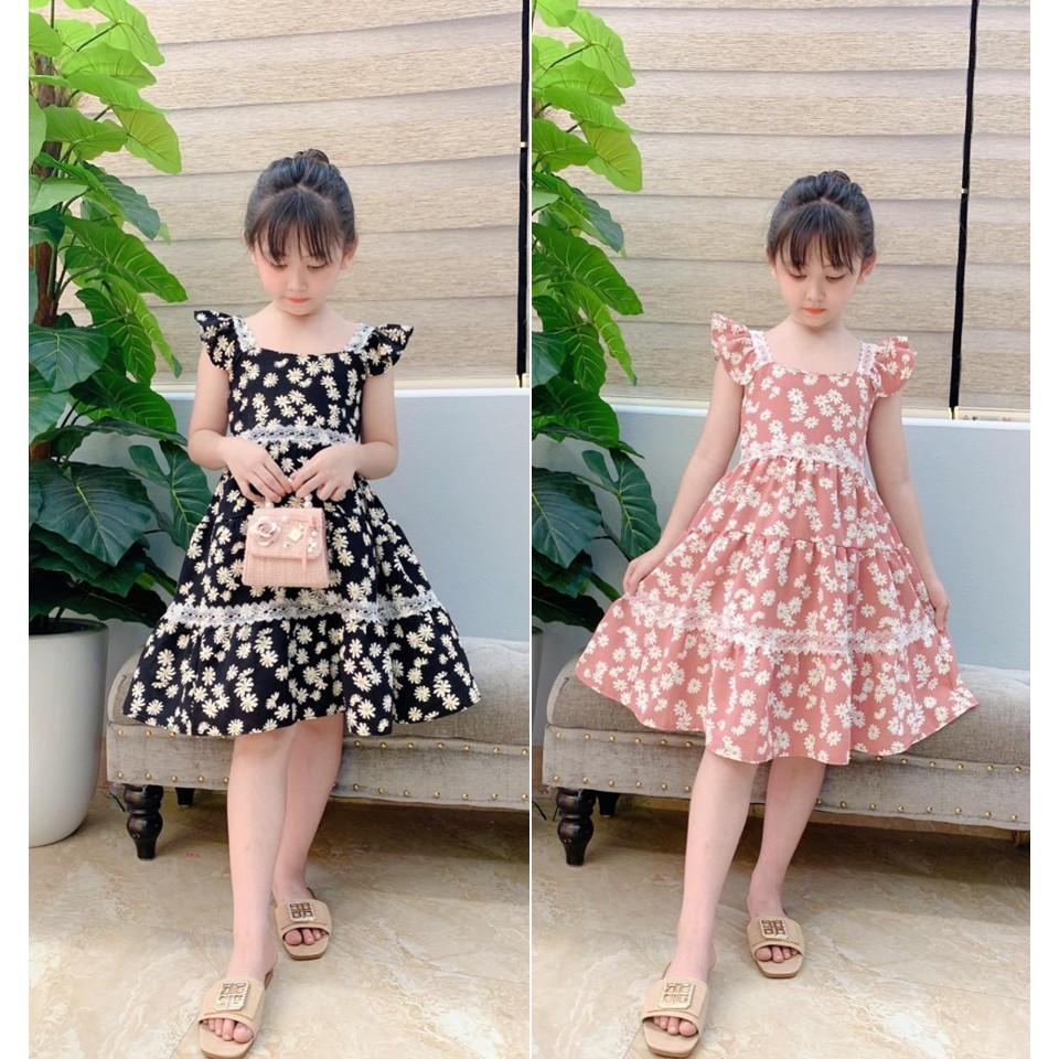 [Mã KID1707 hoàn 35K xu đơn 99K] Váy Đũi Hình Hoa Cúc Cho Bé Từ 9 Ký đến 28 Ký